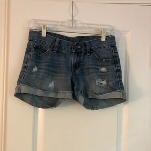distressed Old Navy jean shorts